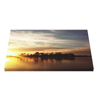 Cedar Key Florida Sunset 5 Canvas Print