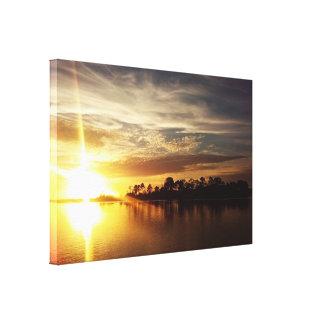 Cedar Key Florida Sunset 6 Canvas Print