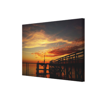Cedar Key Florida Sunset 9 Canvas Print