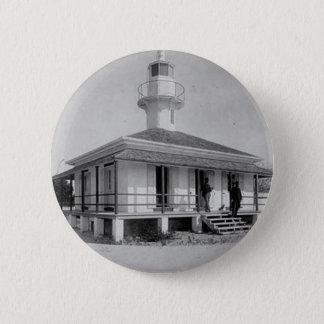 Cedar Key Lighthouse 6 Cm Round Badge