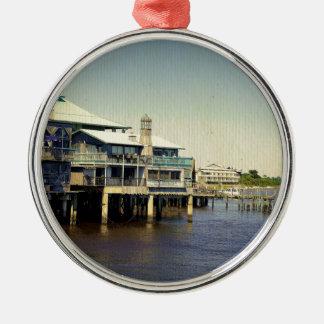 Cedar Key Marina Christmas Ornament