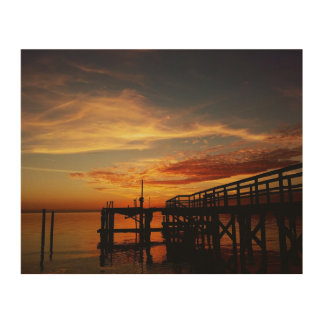Cedar Key Sunset 9 Wood Wall Decor