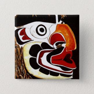 Cedar Mask 15 Cm Square Badge