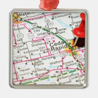 Cedar Rapids, Iowa Christmas Ornament