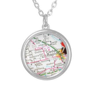 Cedar Rapids, Iowa Silver Plated Necklace