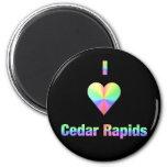 Cedar Rapids -- Pastels Refrigerator Magnet