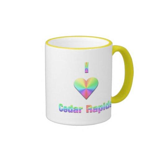 Cedar Rapids -- Pastels Ringer Coffee Mug