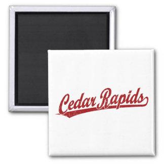 Cedar Rapids script logo in red Refrigerator Magnet