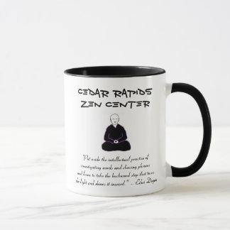Cedar Rapids Zen Center mug with Dogen quote