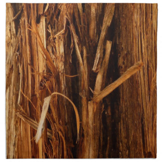 Cedar Textured Wooden Bark Look Napkin