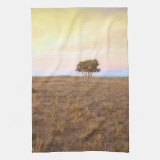Cedar Tree at Sunset Landscape Kitchen Towel