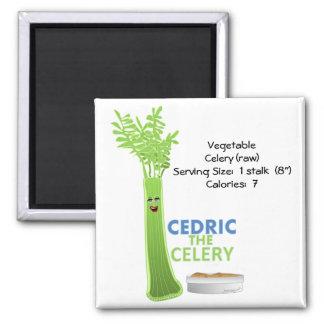 Cedric the Celery Square Magnet