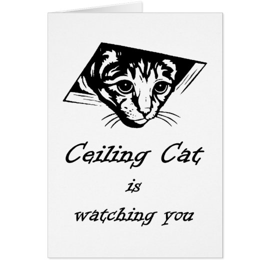 Ceiling Cat is Watching You Card