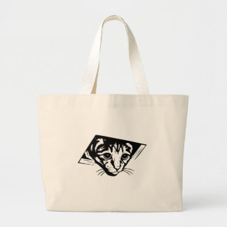 Ceiling Cat Large Tote Bag