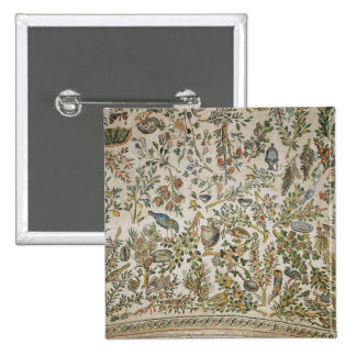 Ceiling decoration with flowers and birds (mosaic) 15 cm square badge