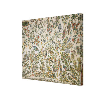 Ceiling decoration with flowers and birds (mosaic) gallery wrapped canvas