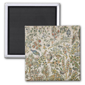 Ceiling decoration with flowers and birds (mosaic) square magnet