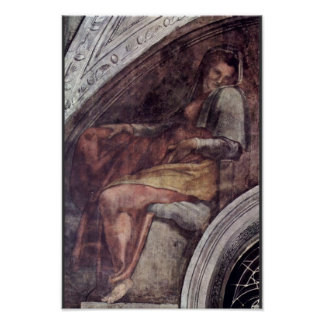 Ceiling Fresco For The Story Of Creation In The Poster