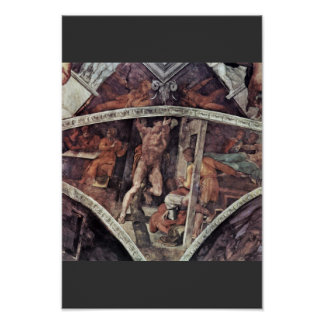 Ceiling Fresco For The Story Of Creation In The Si Posters