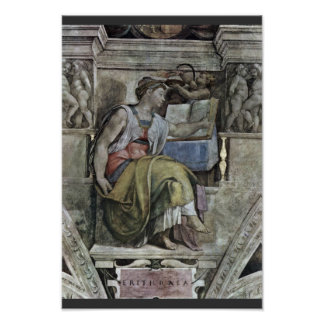 Ceiling Fresco For The Story Of Creation In The Si Print