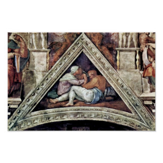 Ceiling Fresco For The Story Of Creation In The si Poster