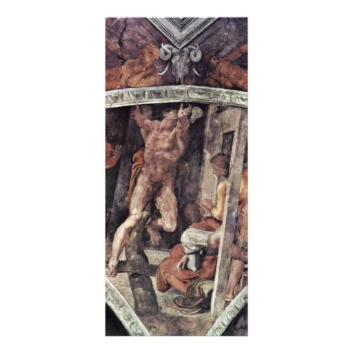 Ceiling Fresco For The Story Of Creation In The Si Personalized Rack Card