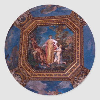Ceiling in the Vatican in Rome, Italy Classic Round Sticker
