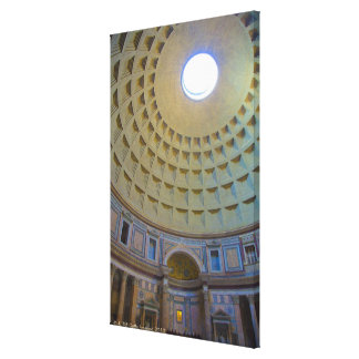 Ceiling of the Pantheon in Rome, Italy. Canvas Print