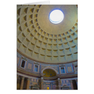 Ceiling of the Pantheon in Rome, Italy. Greeting Card