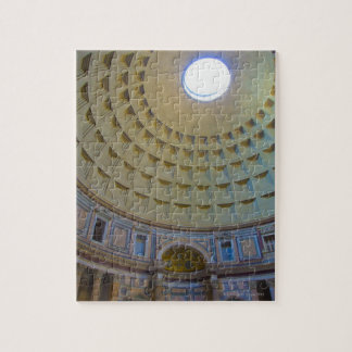 Ceiling of the Pantheon in Rome, Italy. Jigsaw Puzzle