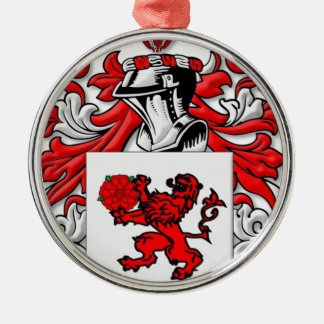Ceja Coat of Arms Round Metal Christmas Ornament
