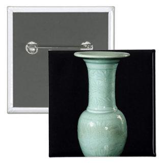 Celadon glazed vase, Yuan Dynasty 15 Cm Square Badge