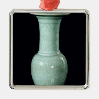 Celadon glazed vase, Yuan Dynasty Christmas Ornament