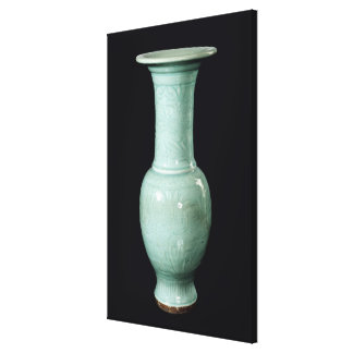 Celadon glazed vase, Yuan Dynasty Stretched Canvas Prints