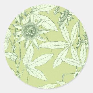 Celadon Green Botanical Floral Stickers