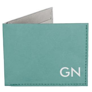 Celadon Green Monogrammed Billfold Wallet
