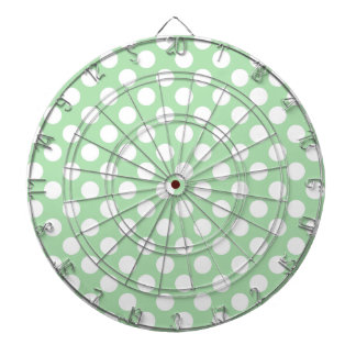 Celadon Green Polka Dots Dartboards