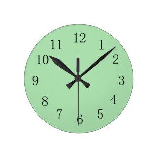 Celadon Green Wall Clock