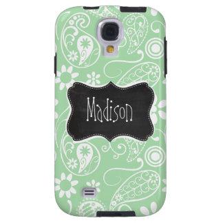 Celadon Paisley; Floral; Chalkboard look Galaxy S4 Case