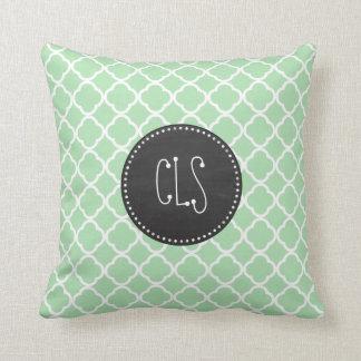 Celadon Quatrefoil; Chalkboard look Cushions