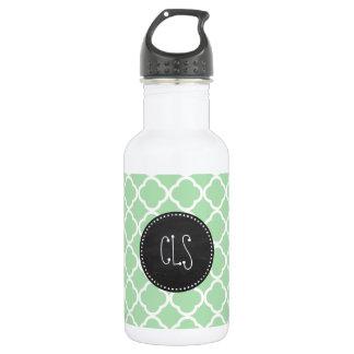 Celadon Quatrefoil; Chalkboard look 532 Ml Water Bottle