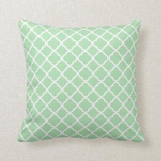Celadon Quatrefoil Throw Pillow