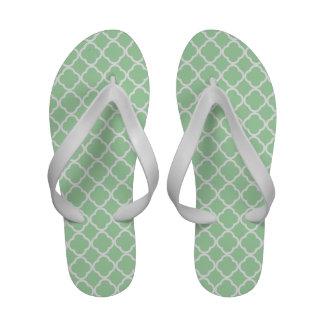 Celadon Quatrefoil Sandals