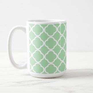 Celadon Quatrefoil Coffee Mugs