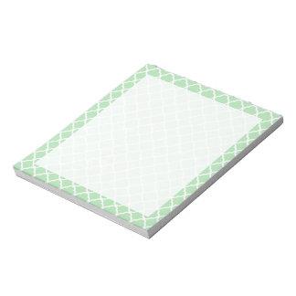 Celadon Quatrefoil Notepad