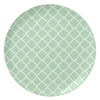 Celadon Quatrefoil Plates
