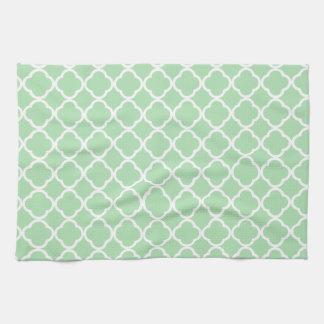 Celadon Quatrefoil Tea Towel