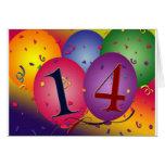 Celebrate 14th Birthday Greeting Card