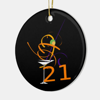 Celebrate 21ST Cocktail Christmas Ornament