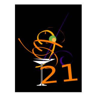 Celebrate 21ST Cocktail Postcard